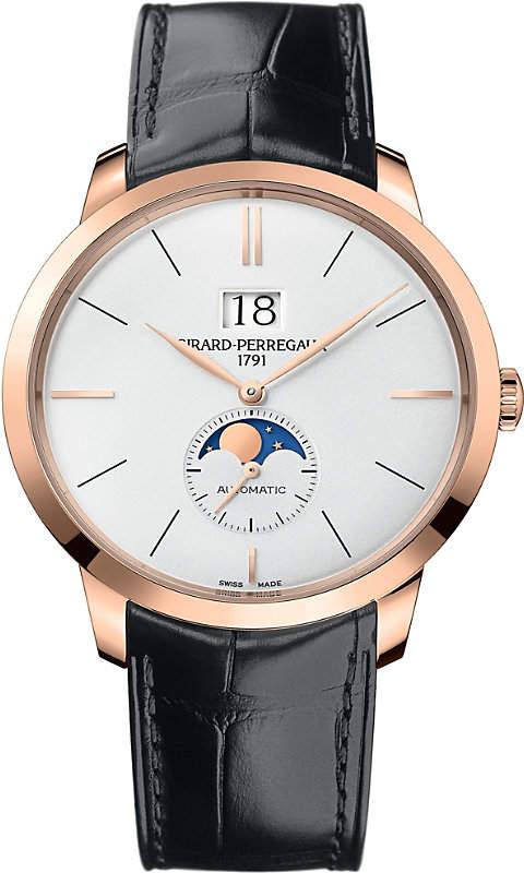 Girard Perregaux Girard-Perregaux 1966-49556-52-131-BB6C rose gold and leather automatic watch