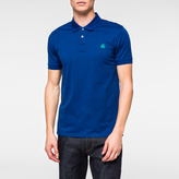 Paul Smith Men's Slim-Fit Indigo Mercerised-Cotton PS Logo Polo Shirt