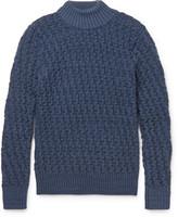 S.n.s. Herning - Stark Basketweave Virgin And Merino Wool-blend Mock Neck Sweater