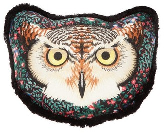 Gucci Owl-embroidered Satin Cushion - Black Multi
