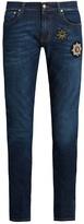 Alexander McQueen Badge-appliqué skinny jeans