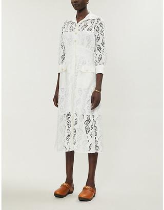 Sandro Zenali floral-lace midi dress