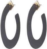 Alexis Bittar Matte Black Hoop Earring