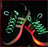 KingYuan LED Shoelaces Light Up Shoe Laces with 3 Modes Flash Lighting the Night for Party Hip-hop Dancing Cycling Hiking(Dazzle Colors)