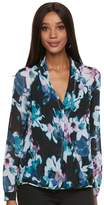 JLO by Jennifer Lopez Women's Floral Crossover Top