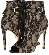 Brian Atwood Linford 2 (Natural Black Lace) - Footwear