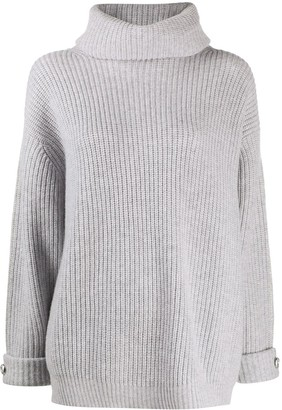 Max & Moi Ribbed Roll-Neck Sweater