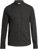 Ami Micro-checked cotton shirt