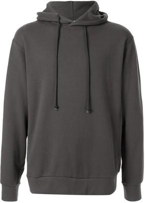 Factotum long sleeved cotton hoodie