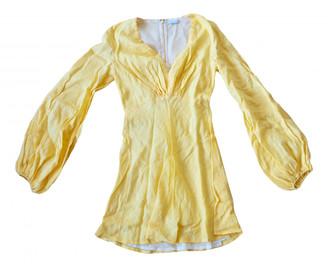 Kalita Yellow Linen Dresses