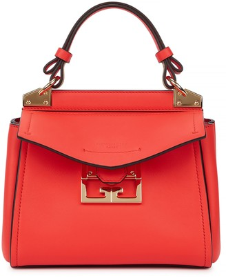 Givenchy Mystic Mini Red Leather Top Handle Bag