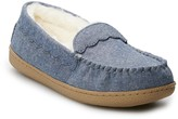 Sonoma Goods For Life Women's SONOMA Goods for Life Chambray Scalloped Moccasin Slippers