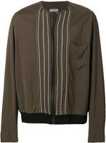 Lanvin collarless bomber jacket with embroidery