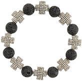 Loree Rodkin beaded cross bracelet