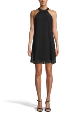 Bar III Halter-Neck Shift Dress, Created for Macy's