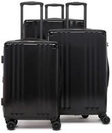 CalPak Ambeur 3-Piece Metallic Luggage Set - Black