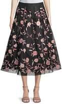 Kate Spade Nancie Floral Tea-Length Skirt