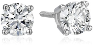 Amazon Collection IGI Certified 18k White Gold Lab Diamond Stud Earrings (3/4 cttw G-H Color VS1-VS2 Clarity)