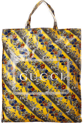 Gucci Floral Print Medium Tote