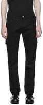 Alyx Black Denim Logo Cargo Pants