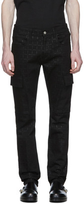 Alyx Black Denim Logo Cargo Pants