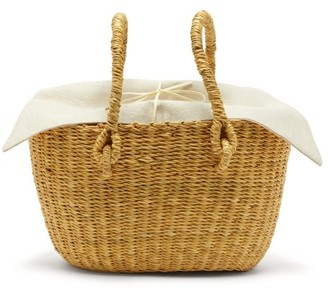 Muun Claudia Woven-grass Bag - Beige Multi