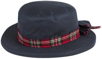 Portmann Ladies Waterproof Wax Rain Hat Hand Made in UK with Bow (Navy XL (60cm))