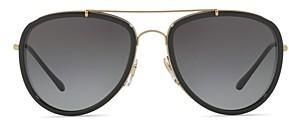Burberry Mirrored Check Aviator Sunglasses, 58mm