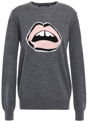 Markus Lupfer Mia Sequined Intarsia Wool Sweater