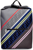 Fendi Grey and Multicolor Forever Fendi Backpack