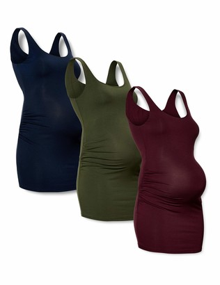 Amazon Essentials Maternity 3-Pack Rouched Tank Top T-Shirt