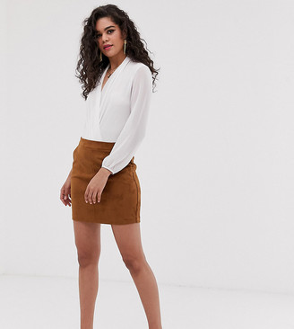 Vero Moda Tall faux suede mini skirt