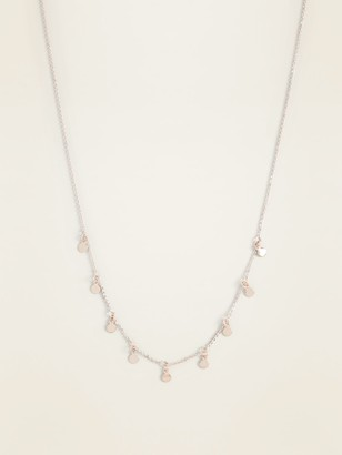 Old Navy Dangling Charm Chain Necklace for Women