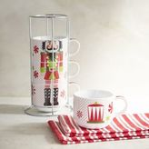 Pier 1 Imports Nutcracker Stackable Coffee Mug Set