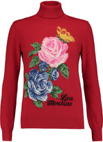Love Moschino Intarsia-knit turtleneck sweater