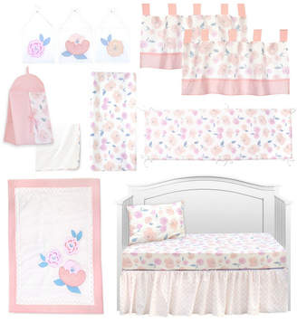 Pam Grace Creations Vintage Like Rose 13 Piece Crib Bedding Set Bedding