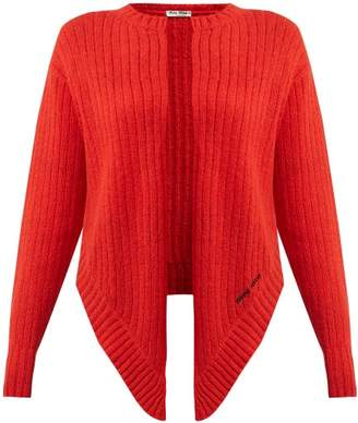 Miu Miu Tie-front Wool Cardigan - Womens - Red