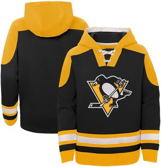 Outerstuff Youth Black Pittsburgh Penguins Ageless Must-Have Lace-Up Pullover Hoodie