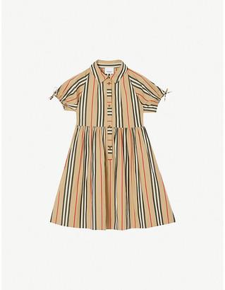 Burberry Josephine stripe-print cotton dress 3-14 years