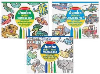 Melissa & Doug Coloring Pad Bundle - Animals, Vehicles and Multi-Theme