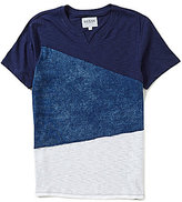 GUESS Short-Sleeve Silas Color Block Tee