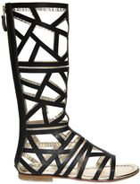 DSQUARED2 Laser-Cut Leather Gladiator Sandals