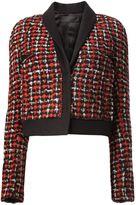 Haider Ackermann cropped tweed jacket - women - Cotton/Linen/Flax/Polyamide/Wool - 36