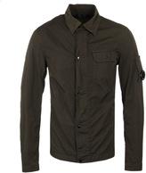 Cp Company Khaki Nylon Watchviewer Overshirt
