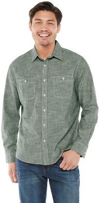 Sonoma Goods For Life Men's Chambray Two-Pocket Button-Down Shirt