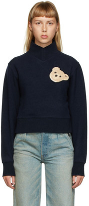 Palm Angels Navy Bear Sweatshirt