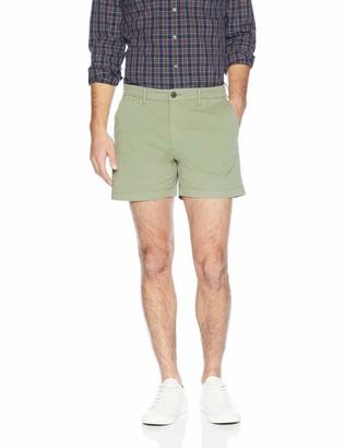 Goodthreads Men's 5 Inseam Flat-front Stretch Chino Short Short