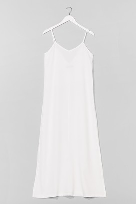 Nasty Gal Womens Sunset Lover V-Neck Midi Dress - White - 6