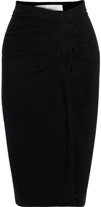 IRO Wilber Pleated Stretch-cotton Jersey Skirt