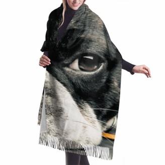 "Wyywcy 27""x77"" Shawl Wrap Scarf Close Plane French Bulldog Spring Scarfs For Women Wraps Shawls For Women Stylish Large Warm Blanket"